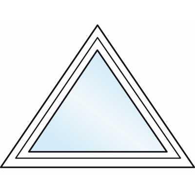 FT262PN  Fenêtre triangulaire PVC