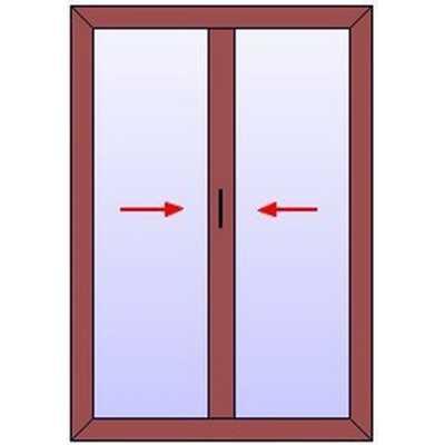 B216 Baie vitrée BOIS 2 coulissants MULTISLIDE
