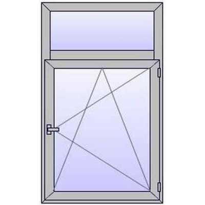 A223 Fenetre ALU 1 vantail+Imposte vitre haute
