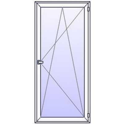 P19PR Porte fenetre PVC 1 vantail
