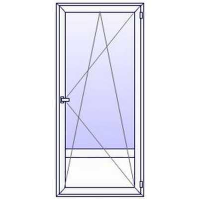 P40PN Porte fenetre PVC 1 vantail + plein bas