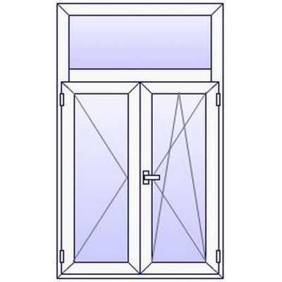 P41PR Fenetre PVC 2 vtx+Imposte vitre haute