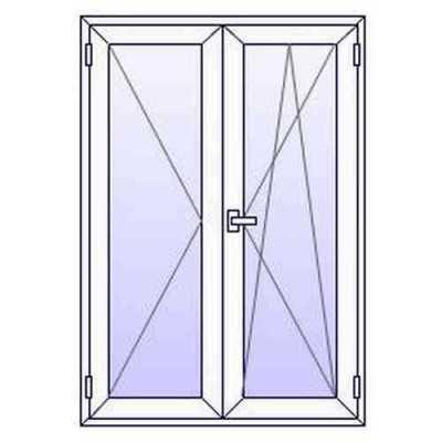 Fenêtres PVC 2 vantaux  L1000mm X H800mm