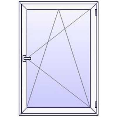 P04PN Fenetre PVC 1 vantail