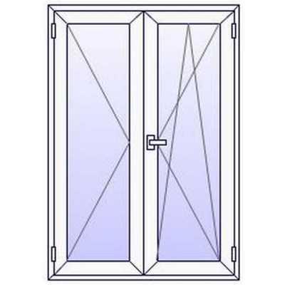 Fenêtres PVC ALUPLAST 2 vantaux sur mesures (à partir de)