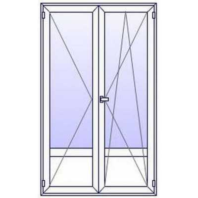 Portes-Fenêtres PVC ALUPLAST 2 vantaux sur mesures (à partir de)