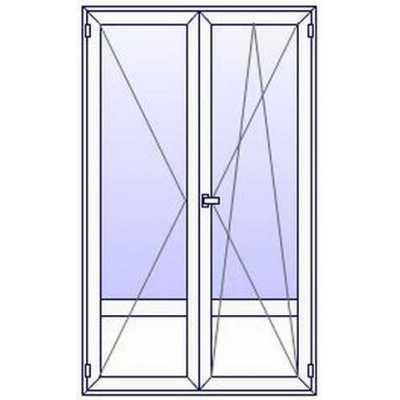 Porte fenetre PVC 2 vantaux + plein bas (à partir de)
