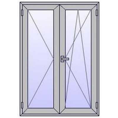 Fenêtres ALU 2 vantaux sur mesures (à partir de)
