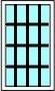 3V+3H Croisillons 16 carreaux / vitre